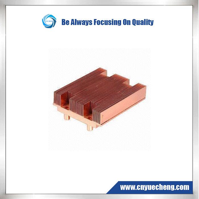 Competitive Aluminum Profile Extrusion for Heat Sink with Golden Anodizing